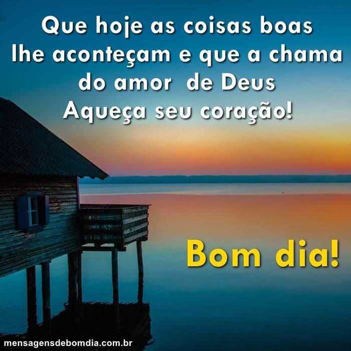 Recado Facebook Que a chama do amor de Deus, aqueça seu coração. Bom dia!!
