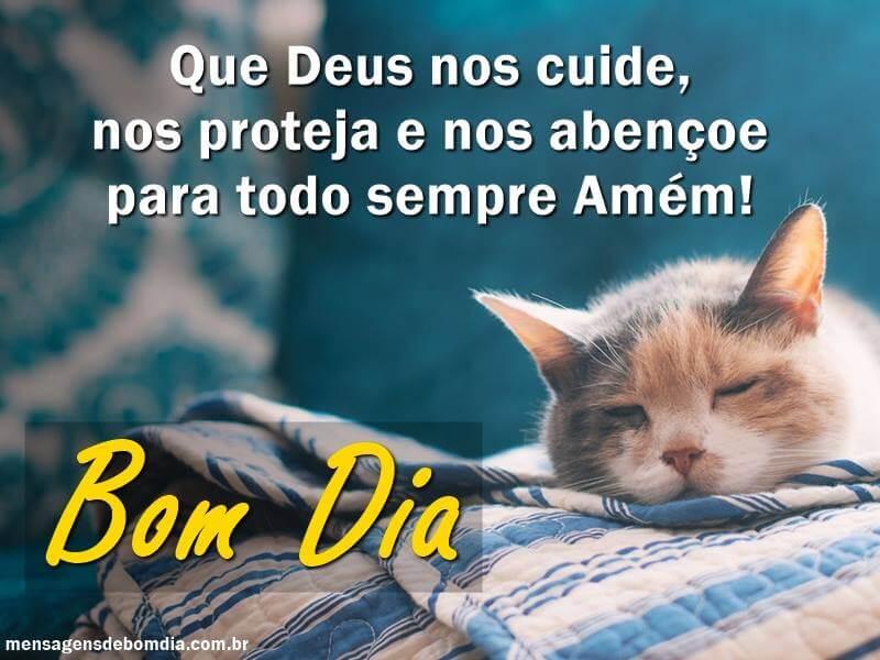 Recado Facebook Que Deus nos cuide, nos proteja e nos abençoe para todo sempre!