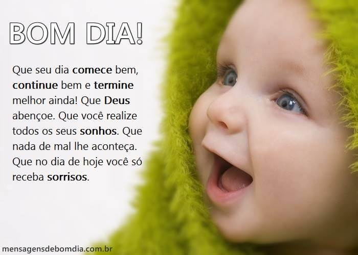 Recado Facebook Que seu dia comece bem, continue bem e termine melhor ainda!