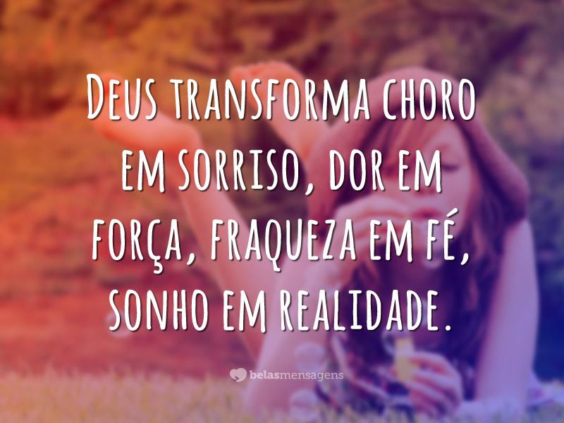 Recado Facebook A sua transformação está em Deus!
