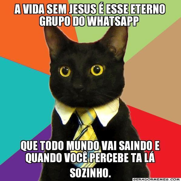 Recado Facebook A vida sem Jesus…
